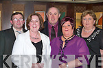 ANNUAL: Attending the Lee Strand Annual Social in the Brandon Hotel Conference Centre, Tralee on Saturday night were l-r: Patrick McSweeney and Joan McSweeney (Killarney), John Leahy (Listry), Liz Galvin (Killorglin) and Liz Tangney (Listry).   Copyright Kerry's Eye 2008
