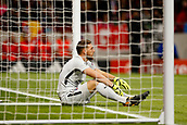 31st October 2017, Wanda Metropolitano, Madrid, Spain; UEFA Champions League, Atletico Madrid versus Qarabag FK; Jan Oblak (13) Atletico de Madrid's player  is left dejected after his side go behind