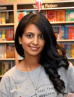 LONDON, UK, AUGUST 08: Konnie Huq, Blue Peter presenter, broadcaster and author, hosts an afternoon for children with live drawings, quizzes and games, followed by a signing of her new book 'Cookie and the Most Annoying Boy in the World' on August 8th, 2019 at Foyles bookshop, London, UK.<br /> CAP/JOR<br /> ©JOR/Capital Pictures