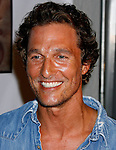 Actor Matthew McConaughey arrives at the launch of Camila Alves' Handbag Collection MUXO at Kitson Studio on August 7, 2008 in Los Angeles, California.