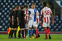 Players and officials shake hands at the end of the game<br /> <br /> Photographer Andrew Kearns/CameraSport<br /> <br /> The EFL Checkatrade Trophy - Blackburn Rovers v Stoke City U23s - Tuesday 29th August 2017 - Ewood Park - Blackburn<br />  <br /> World Copyright &copy; 2018 CameraSport. All rights reserved. 43 Linden Ave. Countesthorpe. Leicester. England. LE8 5PG - Tel: +44 (0) 116 277 4147 - admin@camerasport.com - www.camerasport.com