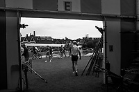 Henley-on-Thames. United Kingdom.  General View, GV. Boating area. 2017 Henley Royal Regatta, Henley Reach, River Thames. <br /> <br /> 07:01:57  Tuesday  27/06/2017   <br /> <br /> [Mandatory Credit. Peter SPURRIER/Intersport Images.