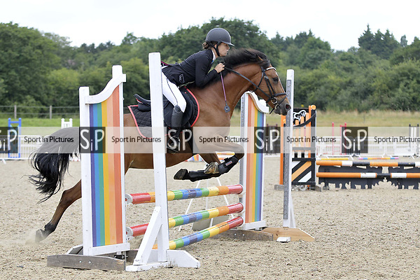 Class 5. 70cm. Unaffiliated showjumping. Brook Farm Training Centre. Essex. 15/07/2017. MANDATORY Credit Garry Bowden/Sportinpictures - NO UNAUTHORISED USE - 07837 394578