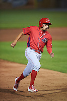 Williamsport Crosscutters pinch runner William Cuicas (13) running the bases during a game against the Auburn Doubledays on June 25, 2016 at Falcon Park in Auburn, New York.  Auburn defeated Williamsport 5-4.  (Mike Janes/Four Seam Images)