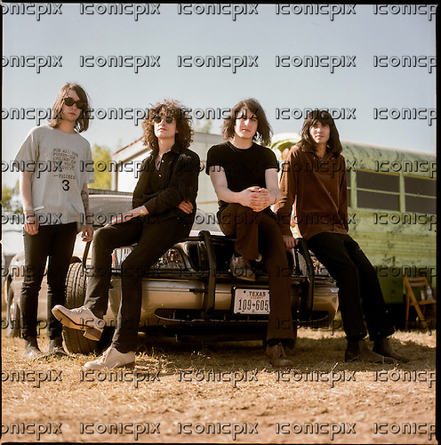 TEMPLES - L-R: Samuel Lloyd Toms, James Edward Bagshaw, Adam Smith, Thomas Edward James Walmsley - Photosession at the Austin Psych Fest in Austin Texas USA - 18 Apr 2014.  Photo credit: Boris Allin/Dalle/IconicPix