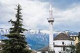 Minarett in der Altstadt von Gjirokastra