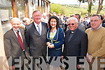 OPENING:  Ceann Comhairle John O'Donoghue  at the official openening of  a new extension to Scoil Ide  National School in Curranes on Friday last..L/r. Pat Tarrant (chairman of the Bord of Management), John O'Donoghue, Cait Daly (Acting Principle), Canon Denis O'Mahony and Cllr. Bobby O'Connell    Copyright Kerry's Eye 2008