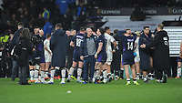 Gregor Townsend, Scotland Head Coach, commiserates with Hamish Watson at the end of the Guinness Six Nations Calcutta Cup match between England and Scotland at Twickenham Stadium on Saturday 16th March 2019 (Photo by Rob Munro/Stewart Communications)
