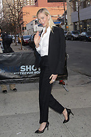 NEW YORK, NY - APRIL 12: Karlie Kloss  at The Daily Show with Trevor Noah on April 12, 2018 in New York City. <br /> CAP/MPI99<br /> &copy;MPI99/Capital Pictures