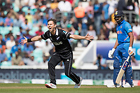 Trent Boult (New Zealand) appeals for the wicket of Rohit Sharma (India) during India vs New Zealand, ICC World Cup Warm-Up Match Cricket at the Kia Oval on 25th May 2019