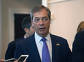 Nigel Farage, Member of the European Parliament is interviewed in the hallway at the Conservative Political Action Conference (CPAC) at the Gaylord National Resort and Convention Center in National Harbor, Maryland on Friday, March 1, 2019.<br /> Credit: Ron Sachs / CNP