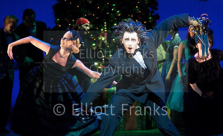 New Adventures, Martin McCallum &amp; Marc Platt present Matthew Bourne's <br /> Edward Scissorhands <br /> at Sadler's Wells, London, Great Britain <br /> press photocall <br /> 4th December 2014 <br /> <br /> Liam Mower as Edward Scissorhands <br /> <br /> <br /> Photograph by Elliott Franks <br /> Image licensed to Elliott Franks Photography Services
