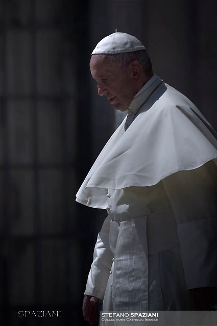 Pope Francis during of a weekly general audience at St Peter's square in Vatican. June 7, 2017