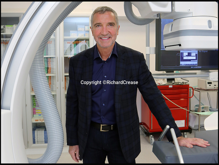 """BNPS.co.uk (01202 558833)<br /> Pic: RichardCrease/BNPS<br /> <br /> Graeme Souness at the official opening of the new cardiac facility at Nuffield Health Bournemouth Hospital.<br /> <br /> Liverpool football legend Graeme Souness has spoken for the first time about the frightening moment he collapsed at home from a suspected heart attack in November.<br /> <br /> The 62-year-old TV pundit looked the picture of health as he opened a new cardiac unit at a private hospital in Bournemouth, Dorset on Wednesday night.<br /> <br /> He said he felt """"fantastic"""" and it was as if the episode had never happened.<br /> <br /> On November 20 last year, Souness suddenly collapsed at his £2.5million family home in Poole, Dorset and was rushed to hospital where his wife Karen said he underwent a minor heart operation."""