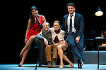 Maia sur, Fernando Ramallo, Lidia Navarro and Jaime Zatarain during the theater play of Un Dios Salvaje at Nuevo Teatro Apolo in Madrid. March 09, 2016. (ALTERPHOTOS/BorjaB.Hojas)
