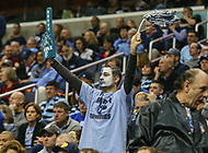 Washington, DC - March 11, 2018: Rhode Island Rams fan during the Atlantic 10 championship game between Rhode Island and Davidson at  Capital One Arena in Washington, DC.   (Photo by Elliott Brown/Media Images International)