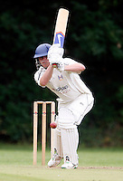 J Treadaway bats for Highgate during the Middlesex County League Division two game between Highgate and Harrow at Park Road, Crouch End on Sat Jun 25, 2011