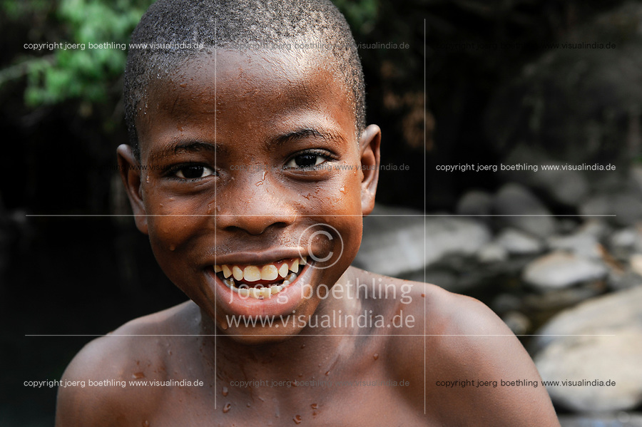 Sierra Leone, Freetown, laughing boy