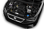 Car stock 2018 Seat Ibiza Xcellence 5 Door Hatchback engine high angle detail view
