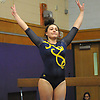 Heidi Baldinger of Massapequa concludes her balance beam performance during a Nassau County varsity gymnastics meet against South Side at McKenna Elementary School in Massapequa Park on Monday, Jan. 29, 2018.