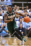 27 December 2014: UAB's Denzell Watts. The University of North Carolina Tar Heels played the University of Alabama Birmingham Blazers in an NCAA Division I Men's basketball game at the Dean E. Smith Center in Chapel Hill, North Carolina. UNC won the game 89-58.