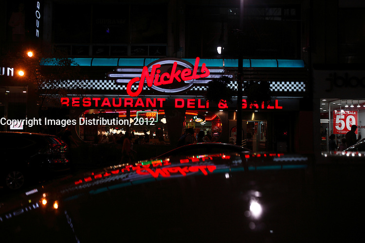 Montreal Qc CANADA _ august 2012 : retails stores in downtown Montreal<br />  - Nickel's  Deli