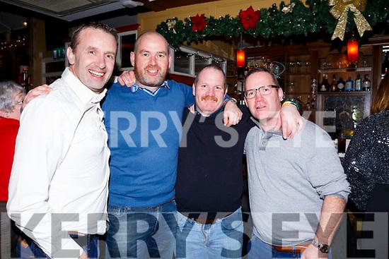 Crotta O'Neills boys, l-r John Edwards, Tom O'Donoghue, Brendan and John O'Mahoney enjoying a night out in the Brogue Inn last Saturday night.