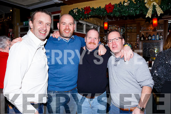 Crotta O'Neills boys, l-r John Edwards, Tom O'Donoghue, Brendan and John O'Mahoney enjoying a night out in the Brogue Inn last Saturday night.
