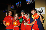 One Life To Live's Lenny Platt, Kristen & Eddie Alderson, Kelley Missal, Andrew Trischitta at the Daytime Stars and Strikes Charity Event to benefit the American Cancer Society at the Bowlmore Lanes, New York City, New York. (Photo by Sue Coflin/Max Photos)