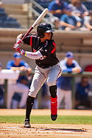 Lake Elsinore Storm Edward Olivares (11) at bat against the Rancho Cucamonga Quakes at LoanMart Field on May 28, 2018 in Rancho Cucamonga, California. The Storm defeated the Quakes 8-5.  (Donn Parris/Four Seam Images)