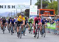Jensen Plowright (Australia/Team BridgeLane, yellow jersey) wins stage three of the NZ Cycle Classic UCI Oceania Tour (Martinborough circuit) in Wairarapa, New Zealand on Friday, 17 January 2020. Photo: Dave Lintott / lintottphoto.co.nz