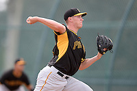 Pittsburgh Pirates pitcher Eric Dorsch (97) during an Instructional League intersquad scrimmage on September 29, 2014 at the Pirate City in Bradenton, Florida.  (Mike Janes/Four Seam Images)