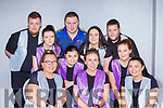 Kenmare Macra who participated in the Macra talent show in the Great Southern Hotel front row l-r: Linda Kelliher, Helena Rice, Joanne Mac, Middle row: Sophie Keogh, Katie Mac, Ciara Price, Rachel Healy, Back row: Seamus Healy, John Michael Fitzgerald, Damian Price,