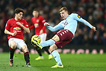 Matt Targett of Aston Villa during the Premier League match at Old Trafford, Manchester. Picture date: 1st December 2019. Picture credit should read: Phil Oldham/Sportimage