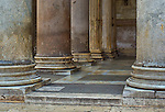 the column bases of the Pantheon in Rome