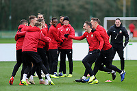 Connor Roberts of Wales (2nd left) during the Wales Training Session at The Vale Resort, Hensol, Wales, UK. Monday 19 November 2018