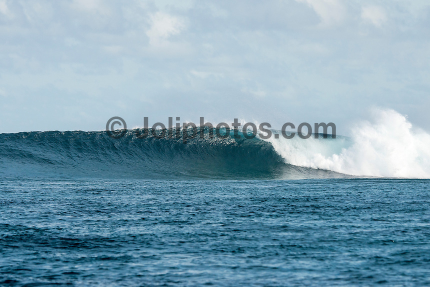 Four Seasons,Kuda Huraa, Maldives (Saturday, August 15, 2015) The surf was still in the 4'-6' range today from the South South East today with very clean conditions.  There was a session at the famed 'Sultans Point' in the afternoon.  The wind was light from the North West.   Photo: joliphotos.com