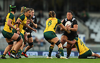 Toka Natua in action during the International Women's Rugby match between the New Zealand All Blacks and Australia Wallabies at Eden Park in Auckland, New Zealand on Saturday, 17 August 2019. Photo: Simon Watts / lintottphoto.co.nz