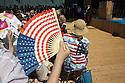Stars and Stripes fan and shirt at the National Day of United States in Expo 2015, Rho-Pero, Milan, July 4, 2015. &copy; Carlo Cerchioli<br /> <br /> Ventaglio e camicia a Stelle e Strisce alla giornata nazionale degli Stati Uniti a Expo 2015, Rho-Pero, Milano, 4 luglio 2015.