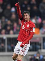 Fussball  1. Bundesliga  Saison 2016/2017  16. Spieltag  FC Bayern Muenchen - RB Leipzig        21.12.2016 Jubel: Robert Lewandowski (FC Bayern Muenchen)