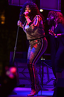 Washington, DC - April 13, 2019: Grammy Award winning singer Faith Evans performs during the annual Emancipation Day celebration held at Freedom Plaza in Washington, D.C. April 13, 2019.  (Photo by Don Baxter/Media Images International)