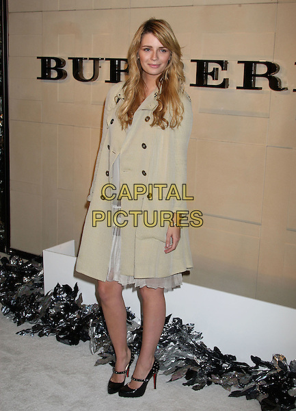 MISCHA BARTON.Christopher Bailey and Mario Testino Burberry Beverly Hills Store Re-Opening held at the Burberry Beverly Hills Store, Beverly Hills, California, USA..October 20th, 2008.full length  beige trench coat mac black mary janes shoes .CAP/ADM/MJ.©Michael Jade/AdMedia/Capital Pictures.
