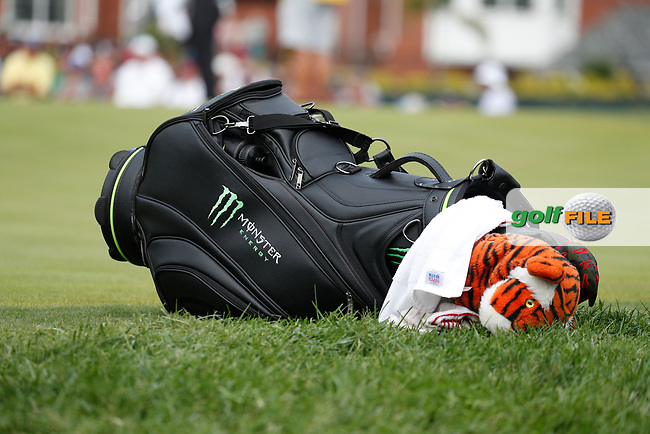 The bag of Tiger Woods (USA) rests on the 5th hole during the final round of the 100th PGA Championship at Bellerive Country Club, St. Louis, Missouri, USA. 8/12/2018.<br /> Picture: Golffile.ie   Brian Spurlock<br /> <br /> All photo usage must carry mandatory copyright credit (© Golffile   Brian Spurlock)