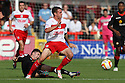 James Dunne of Stevenage escapes from Luke Murphy of Crewe. Stevenage v Crewe Alexandra - npower League 1 -  Lamex Stadium, Stevenage - 15th September, 2012. © Kevin Coleman 2012.
