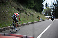 Lars Bak (DEN/Lotto-Soudal) as seen from the team car<br /> <br /> stage 15 (iTT): Castelrotto-Alpe di Siusi 10.8km<br /> 99th Giro d'Italia 2016