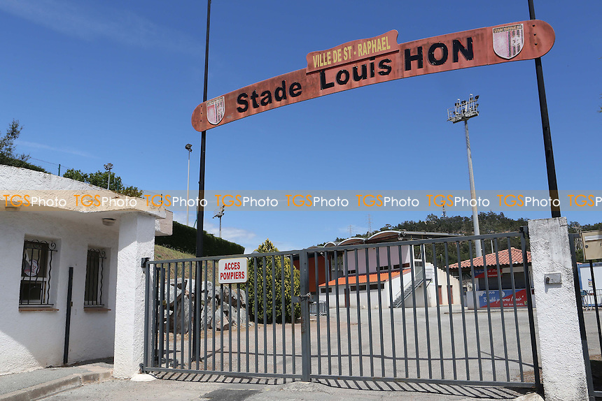 Main entrance to the Stade Louis Hon, Saint Raphael, France - England Under-20 vs Brazil Under-20 - Toulon Tournament Group B Football at Stad L Hon, Saint Raphael, France - 26/05/14 - MANDATORY CREDIT: Paul Dennis/TGSPHOTO - Self billing applies where appropriate - contact@tgsphoto.co.uk - NO UNPAID USE