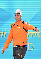 August 01, 2012..Ranomi Kromowidjojo arrives to compete in Women's 100m Freestyle Semifinal at the Aquatics Center on day five of 2012 Olympic Games in London, United Kingdom.