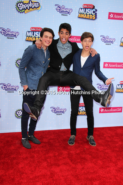 LOS ANGELES - FEB 25:  Forever In Your Mind at the Radio DIsney Music Awards 2015 at the Nokia Theater on April 25, 2015 in Los Angeles, CA