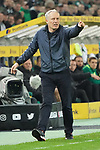 15.03.2019, Borussia Park , Moenchengladbach, GER, 1. FBL,  Borussia Moenchengladbach vs. SC Freiburg,<br />  <br /> DFL regulations prohibit any use of photographs as image sequences and/or quasi-video<br /> <br /> im Bild / picture shows: <br /> Christian Streich Trainer/Headcoach (SC Freiburg), regt sich heftig auf, Gestik, Mimik,   <br /> <br /> Foto © nordphoto / Meuter