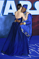 """Daisy Ridley and John Boyega<br /> arriving for the """"Star Wars: The Rise of Skywalker"""" premiere at the Cineworld Leicester Square, London.<br /> <br /> ©Ash Knotek  D3545 17/12/2019"""